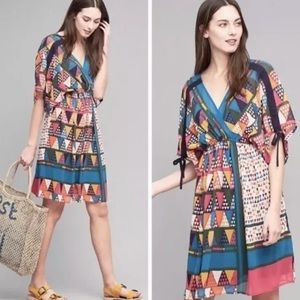 NWT Anthropologie geo print dress